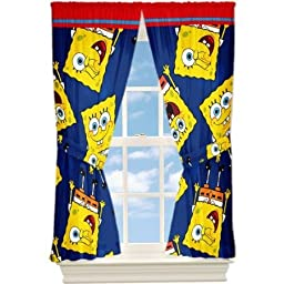 SpongeBob SquarePants Ready Set Sponge Window Panels Curtains Drapes
