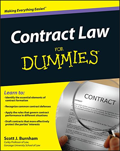 Contract Law For Dummies Scott J Burnham  Amazon