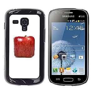 TopCaseStore / la caja del caucho duro de la cubierta de protección de la piel - Square Apple - Samsung Galaxy S Duos S7562