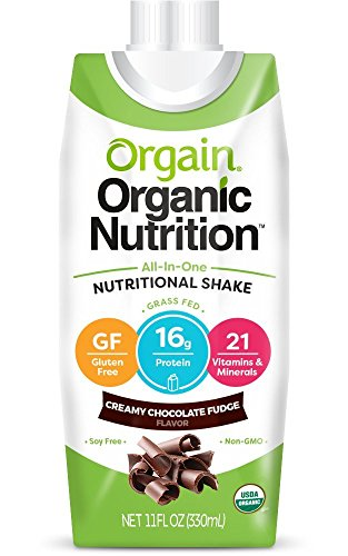 Orgain Organic Nutrition Shake, Creamy Chocolate Fudge, Gluten Free, Non-GMO, Kosher, 11 Ounce, 24 Count (Packaging May Vary)