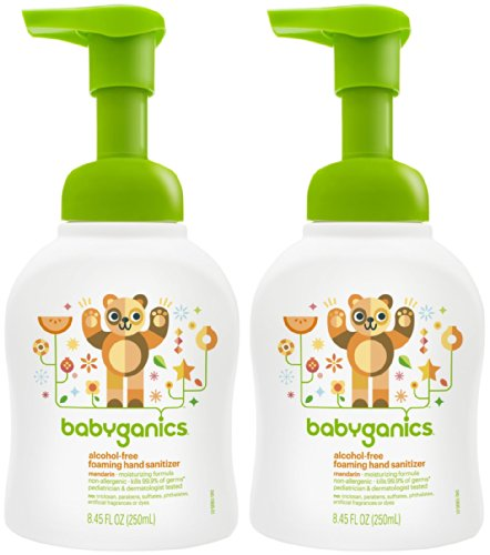 Babyganics Alcohol-Free Foaming Hand Sanitizer - Mandarin - 8.45 oz - 2 pk