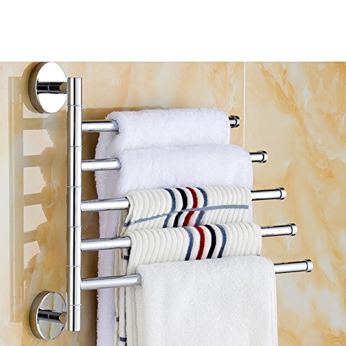 30%OFF Revolving towel rack/Bathroom racks/Towel Bar wall activity/Towel double rod/brass Towel rack-D