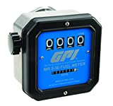 GPI 126300-02, MR530-L6N Mechanical Disk Fuel Flowmeter .75-Inch FNPT Inlet/Outlet, 19-114 LPM, 4-Digit Batch Display, Non-Resettable Cumulative Total, +/-2 Percent Accuracy