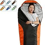 Kyпить Camping Sleeping Bag-EnvelopeMummy Outdoor Lightweight Portable Waterproof Perfect for 0 degree Traveling,Hiking Activities(Dark Grey & Red / Left Zip, Mummy) на Amazon.com