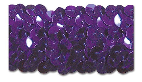 PURPLE 1-1/4 INCH STRETCH SEQUIN 10 Yards by Trimplace