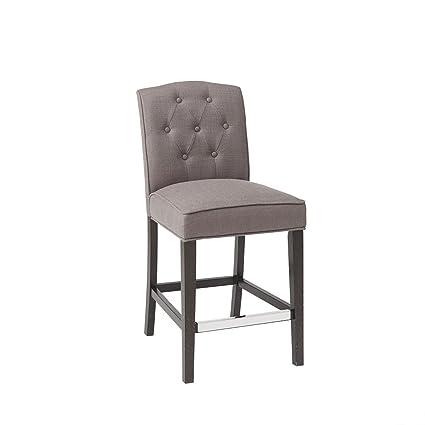 Astonishing Amazon Com Marian Tufted Counter Stool Grey See Below Home Ibusinesslaw Wood Chair Design Ideas Ibusinesslaworg