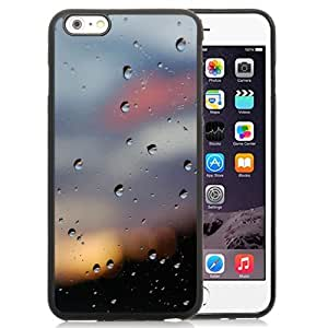 Fashionable Custom Designed iPhone 6 Plus 5.5 Inch Phone Case With Water Drops Glass Bokeh_Black Phone Case