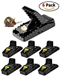 Mouse Trap Rodent Traps Mice Traps For Mouse Control Mouse Catcher Quick Kill Effective Rat For Kitchen Bedroom Garden Outdoor Indoor Bathroom Safe For Family Or Pets, 6 PACK