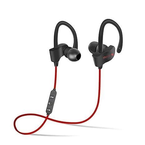 Murieo Bluetooth Auriculares inalámbricos Audífonos Deporte con micrófono, Auriculares de reproducción para el Teléfono de