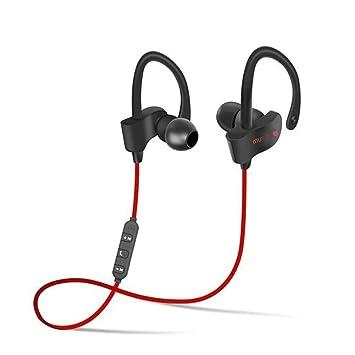 Murieo Bluetooth Auriculares inalámbricos Audífonos Deporte con micrófono, Auriculares de reproducción para el Teléfono de Moblie (Azul): Amazon.es: ...