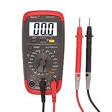 Digital Multimeter Resistance Capacitance Inductance LCR Multi Meter Tester with LCD Backlight Transistor hFE Display: 1-1999 UA6243L