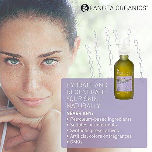 Pangea Organics Body Oil | Pyrenees Lavender with Cardamom | Body Massage Oil | Nourishing, Organic Body Oil for Dry Skin | 4 Oz. Anti-Aging, Natural Skin Oil | Vegan & Gluten-Free | Non-GMO - incensecentral.us