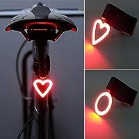 Fietslicht, ultra helder, IP63 waterdicht, COB-led-hartvorm, voor waarschuwingslicht, zie afbeelding, hartvorm