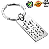 Alxeani Wedding Gifts for Groom from Mom Wedding Anniversary Gifts for Him Groom Keychain Son Keychain for Son Men