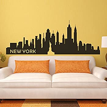 The Big Apple Wall Decal New York City NYC Skyline Cityscape Travel  Vacation Destination (Small Part 58