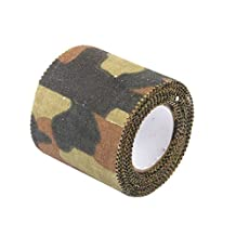 MagiDeal Camo Adhesive Tape Camouflage Hunting Stealth Tape Wrap