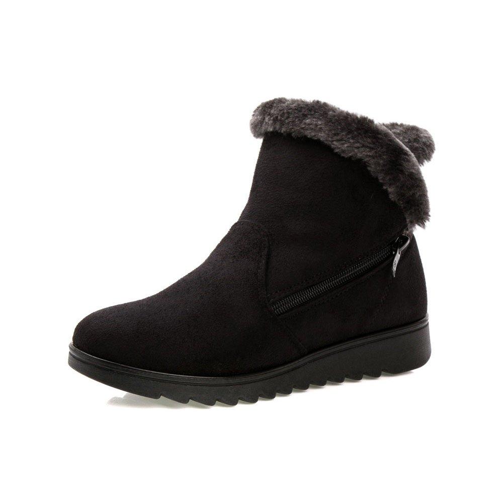 Fisca レディース スノーブーツ ウィンターブーツ ショートブーツ 雪用ブーツ ハイカット シューズ 冬靴 防寒 保温 防滑 暖かく保つ