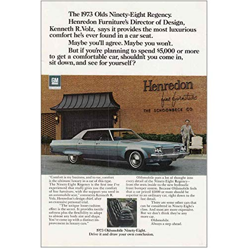 RelicPaper 1973 Oldsmobile Ninety Eight: Henredon Furniture, Oldsmobile Print Ad (Henredon)