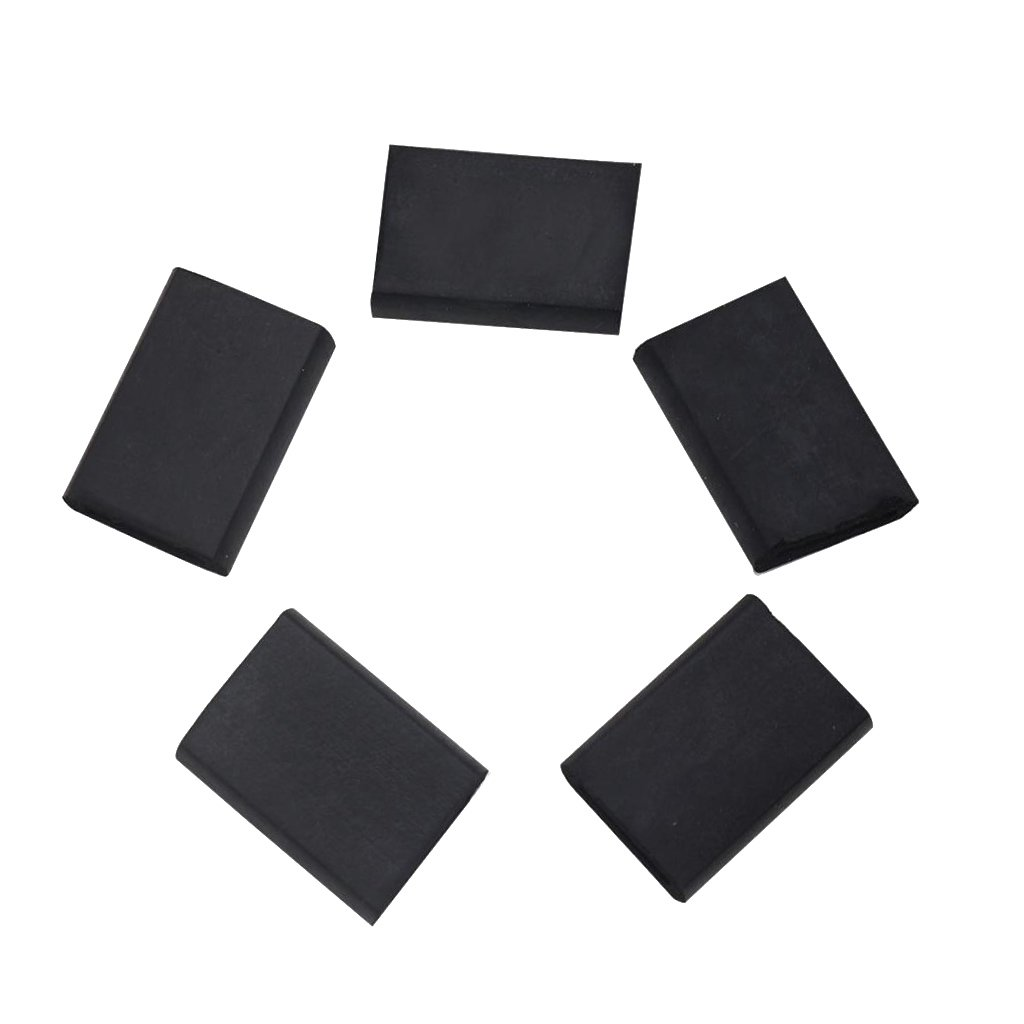 D DOLITY 5 Pieces Saxophone Finger Cover Thumb Rest Cushion for Sax Practicers Black 1.18x0.08x0.39inch 057900201069468551805