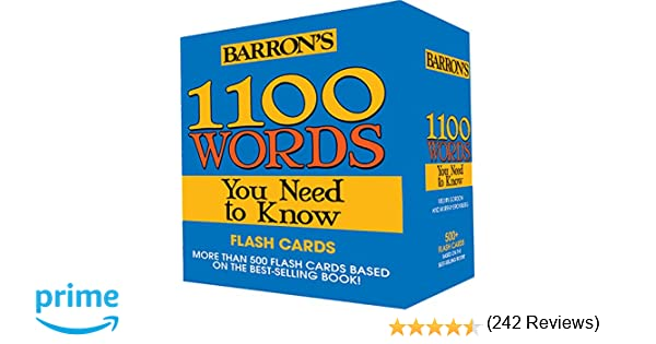 Amazon.com: 1100 Words You Need to Know Flashcards (9781438075266 ...