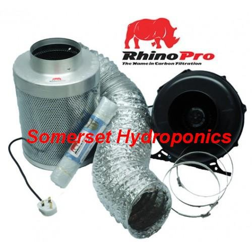 Rhino Fan and Carbon Filter A1 Kit 150mm - 6inch