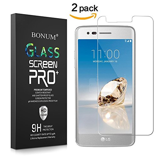 BONUM Anti Scratch Hd Ultra Clear 9H Hardness 2.5D Tempered Glass Screen Protector For LG Aristo/LG V3/LG Lv3 – 2 Piece