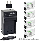 Kastar Battery (4-Pack) and Charger Kit for Panasonic DMW-BCM13, DMW-BCM13PP work with Panasonic Lumix DMC-FT5, Panasonic Lumix DMC-LZ40, Panasonic Lumix DMC-TS5, Panasonic Lumix DMC-TZ37, Panasonic Lumix DMC-TZ40, Panasonic Lumix DMC-TZ41, Panasonic Lumix DMC-TZ55, DMC-TZ60, Panasonic Lumix DMC-ZS27, Panasonic Lumix DMC-ZS30, Panasonic Lumix DMC-ZS35, Panasonic Lumix DMC-ZS40 Cameras