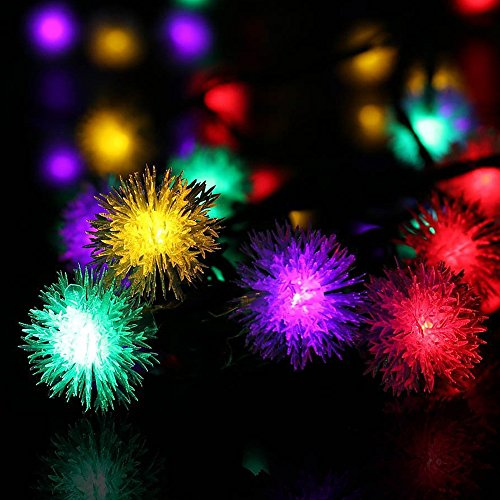 (6m 30-LED Fairy String Lights Indoor\Outdoor - SHUDAGE Dandelion Curtain Lamp Girls Room Decorative Copper Wire Strip Lights Festival Decoration Lamp for Patio/Garden/Christmas/Wedding (multicolor))