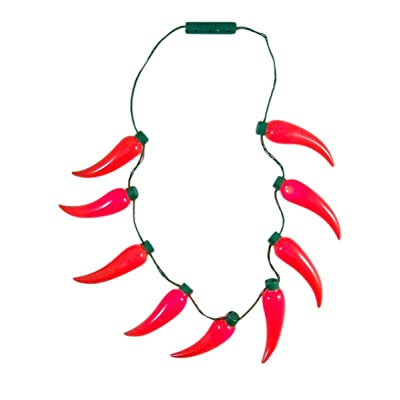Gloworks Chili Pepper Light Up Fiesta Party Necklace Accessory: Toys & Games