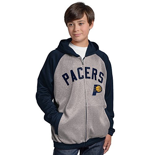 G-III Sports by Carl Banks Youth Boy's Legend Hooded Track Jacket, Gray, Large (Jacket Hooded Track)