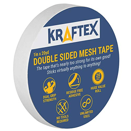 New: All Purpose Double Sided Tape, for Mounting, Carpets, Floors, Rugs, Runners, Mats [Extra Strength Adhesive] Indoor Gripper Tape for Wood, Laminate, Tile and More [Glue Sticks to Any Surface] (Best Way To Cut Concrete)