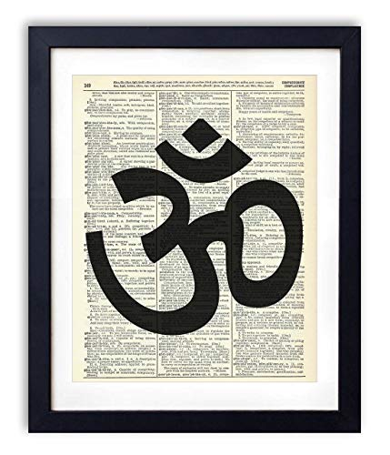 (Om Symbol Upcycled Vintage Dictionary Art Print 8x10)