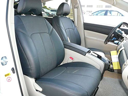 Clazzio 230211blk Black Leather Front Row Seat Cover for Toyota Prius Plug in