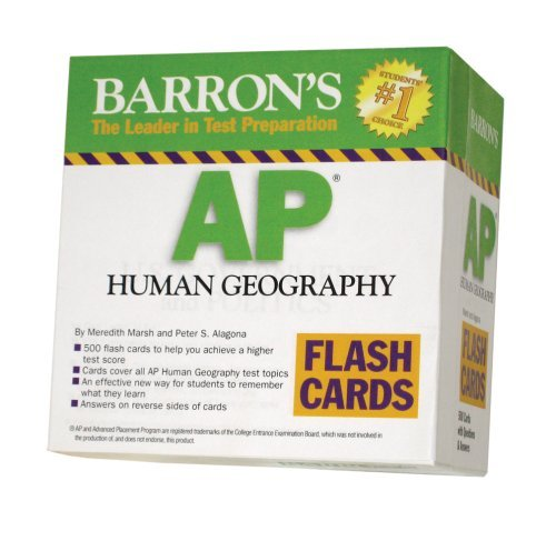Barron's AP Human Geography Flash Cards (Barron's: the Leader in Test Preparation) by Meredith Marsh M.A. (2009-03-01)
