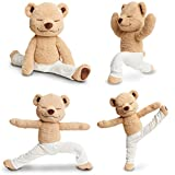 JZH Flexible Remodelable Pose Yoga Bear Cute Bear Soft Plush Toys. (L)
