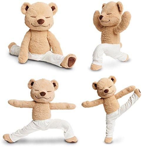Flexible Bear - JZH Flexible Remodelable Pose Yoga Bear Cute Bear Soft Plush Toys. (L)
