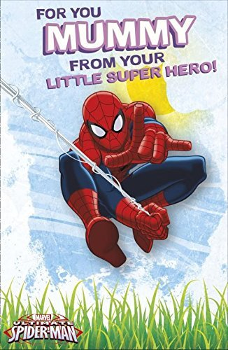 Spiderman Mummy From Your Little Super Hero Birthday Card