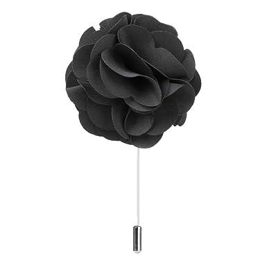 Mens suit boutonniere lapel pin flower brooch black amazon mens suit boutonniere lapel pin flower brooch black mightylinksfo