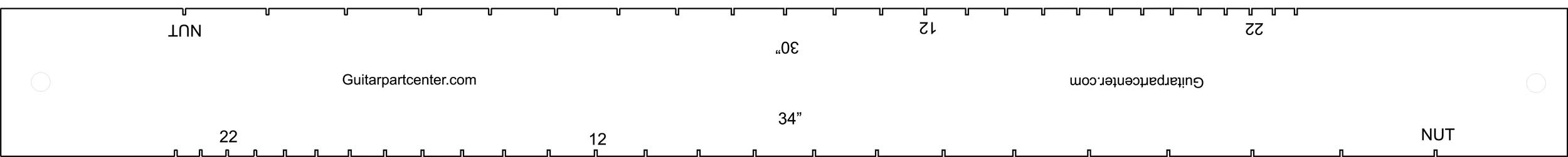 Dual Scal Fingerboard Slotting Template - 34'' & 30''