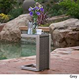 Crested Bay Outdoor Grey Wicker C-Shaped End Table Review