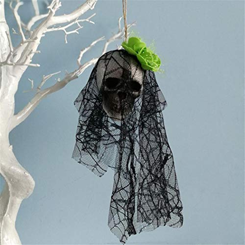 YOYORI Halloween Skull Decoration, Hanging Decor Pirates Corpse Skull Haunted House Bar Home Garden Decor Gift Party Decorations Decals Stickers Supplies (F)