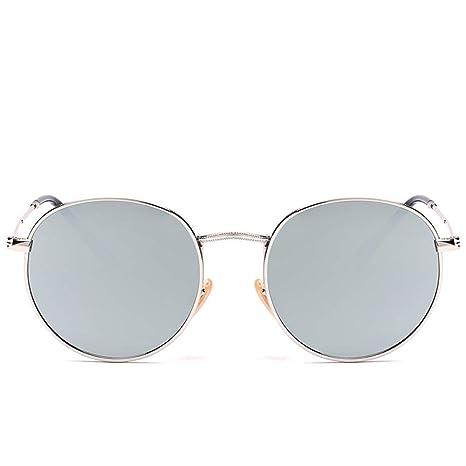 Yangjing-hl Gafas de Sol Vintage con Montura Redonda Gafas ...