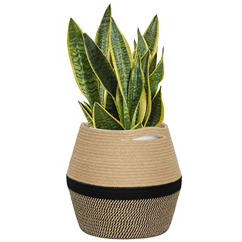 "CHICVITA Jute Rope Plant Basket – Woven Storage Basket for 8in to 11in Plant Pot Floor Indoor Planters, 12"" x 12"" Jute…"