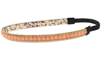 Amazon.com   AimTrend Thin Fashion Casual Headbands with Elastic back-Peach    Beauty 1b519208f1c