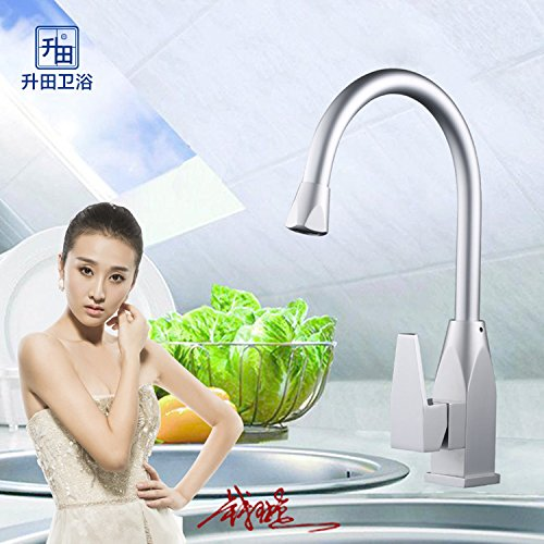 Furesnts Modern home kitchen and Bathroom Sink Taps Space aluminum kitchen tap water Taps Sink cut slot hot cold running water Bathroom Sink Taps,(Standard G 1/2 universal hose ports)