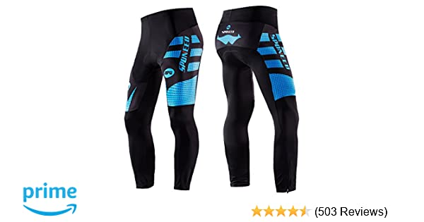 42a9eb6ff Amazon.com   sponeed Men s Bicycle Pants 4D Padded Road Cycling Tights MTB  Leggings Outdoor Cyclist Riding Bike Wear   Sports   Outdoors