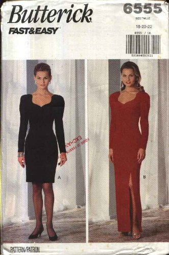 Amazon.com: Butterick Sewing Pattern 6555 Misses Size 6-10 Easy ...