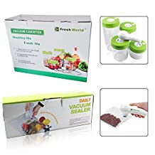Keynew Handheld Vacuum Sealer System Food Storage Saver with 4 Vacuum Jars