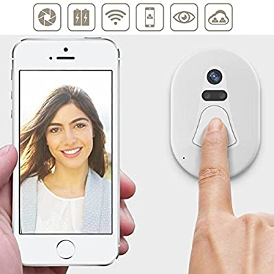 Whitelotous Smart Wireless WIFI Doorbell Video Camera Monitor Cloud Storage Door Auto Phone Remote Control Anti-theft Doorbell