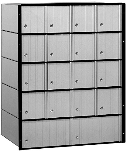 Salsbury Industries 2218 Aluminum Mailbox, 18 Doors, Standard System, Aluminum with Black Trim by Salsbury Industries